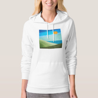 Green Fields Blue Waters Hoodie
