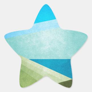 Green Fields Blue Waters Star Sticker
