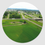 Green Fields Classic Round Sticker