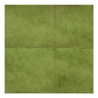 green fields creased background poster