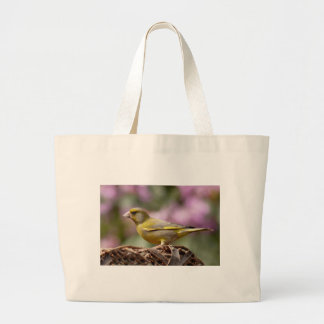 Green Finch Large Tote Bag