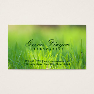 Green Finger Landscaping Business Cards