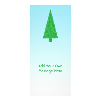 Green Fir Christmas Tree Blue White Custom Text Full Color Rack Card