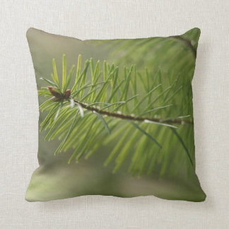 Green Fir Needles Douglas Fir Throw Pillow