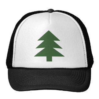 green fir tree trucker hat
