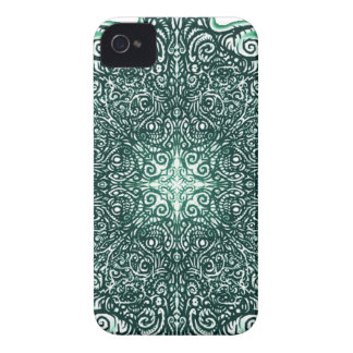 Green Fire Fractal iPhone 4 Case-Mate Case