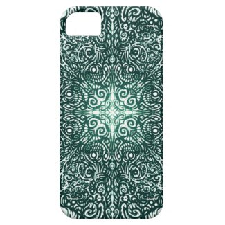 Green Fire Fractal iPhone 5 Covers