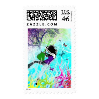Green Fire Postage