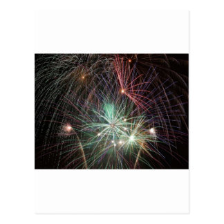 green-fireworks-at-night post cards