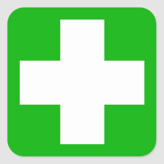 Green First Aid Decal Sticker