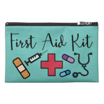 Green First Aid Kit Medicine Emergency Travel Accessory Bag