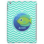 Green Fish; Aqua Green Chevron iPad Air Case
