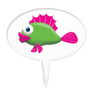 GREEN FISH CAKE TOPPERS
