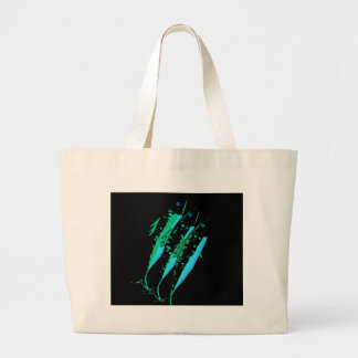 Green fish large tote bag