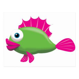 GREEN FISH POSTCARD