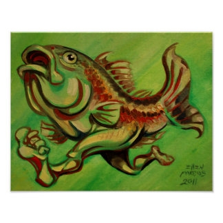 Green Fish Run Poster