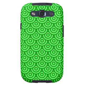 Green Fish Scale Pattern Galaxy SIII Covers