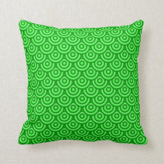 Green Fish Scale Pattern Pillow