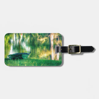 Green Fishing Boat Bag Tag