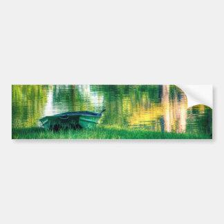 Green Fishing Boat Bumper Sticker
