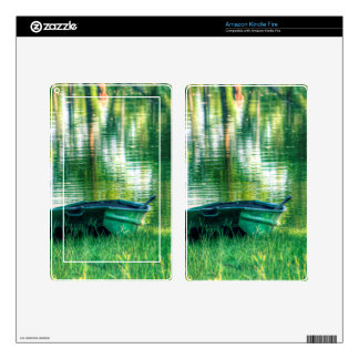 Green Fishing Boat Skin For Kindle Fire