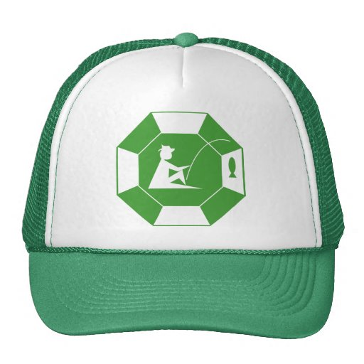 Green Fishing Logo Cap Trucker Hat Zazzle