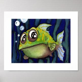 Green Fishy - Animals - 10 x 8 Poster