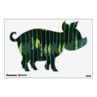 Green Flair : PIG Wall Graphic
