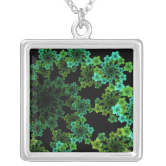 Green flake necklace
