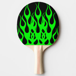 Green Flame Graphics Ping-Pong Paddle