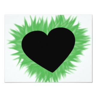 Green Flame Heart Card