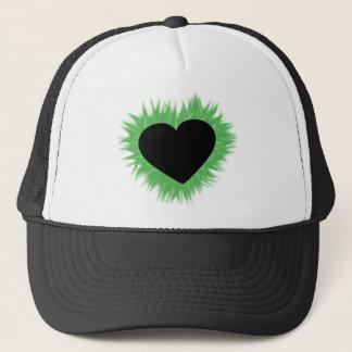 Green Flame Heart Trucker Hat