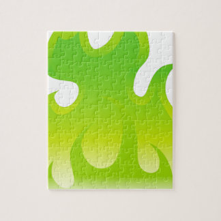 Green Flame Icon Jigsaw Puzzle