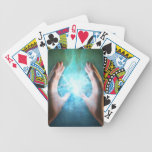 Green flame  powerful healing hands bicycle playing cards