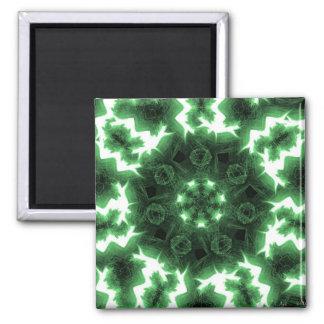 Green Flames Magnet