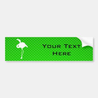Green Flamingo Bumper Sticker