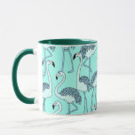 Green Flamingo Mug