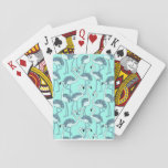 Green Flamingo Playing Cards