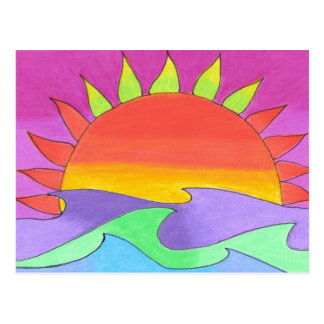 Green Flash in Pink Sky Postcard