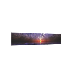 Green Flash Panorama Canvas Print