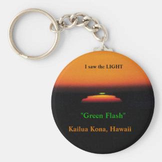 Green Flash Sunset Keychain