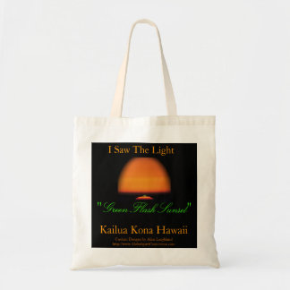 Green Flash Sunset Tote Bag