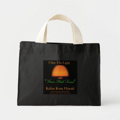 Green Flash Sunset Tote Bag