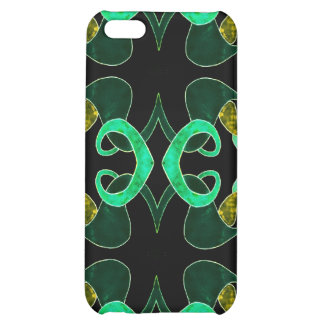 Green Fleur-de-lis Abstract IPhone Case iPhone 5C Case
