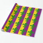 Green Fleur de Lis Gift Wrap