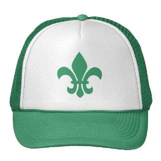 Green Fleur de Lis Trucker Hat