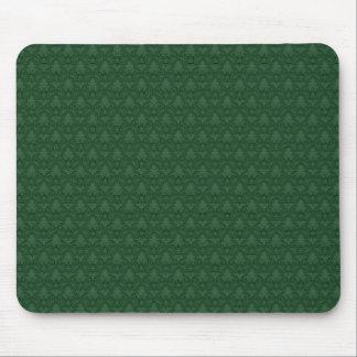 Green Fleur-de-lis Pattern Mouse Pad