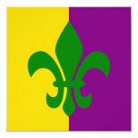 Green Fleur de Lis Personalized Announcements