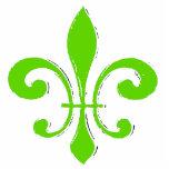 Green Fleur De Lis Cut Outs