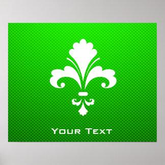 Green Fleur de lis Print